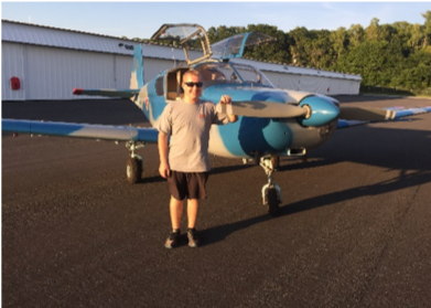 Attack Aviation Foundation sponsored the H.B. Plant High School student of the year, Reid Brackins